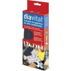Ιατρική Κάλτσα Diavital Μαύρο Γκρι/Μαύρο